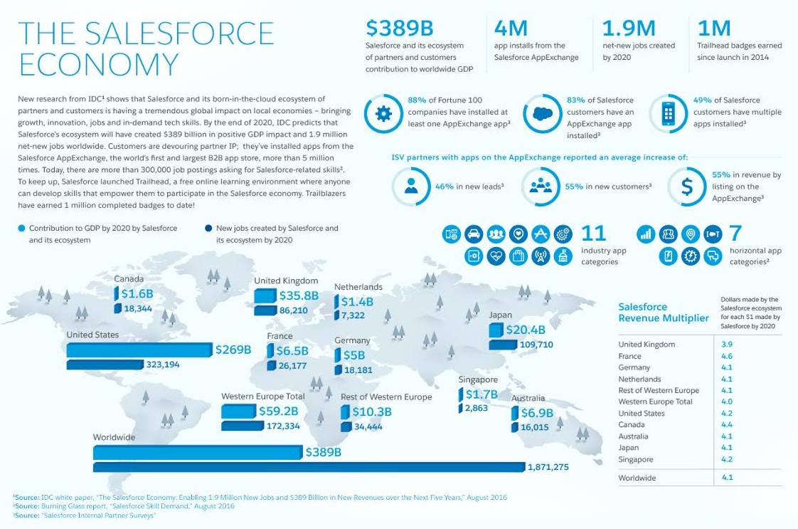 The Growing Salesforce Ecosystem Infographic