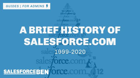 A Brief History Of Salesforce.com: 1999-2020