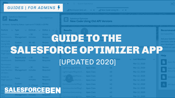 Guide to the Salesforce Optimizer App [Updated 2020]