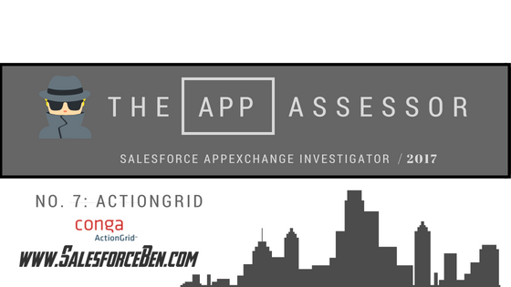 The AppAssessor #7: Conga ActionGrid In-Depth Review
