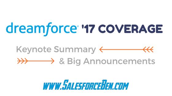 Dreamforce 2017: Keynote Summary & Big Announcements