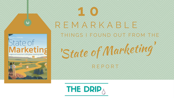 10 remarkable things I found out from the 'State of Marketing' Report