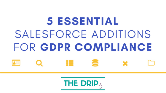5 Essential Salesforce CRM Additions to be GDPR Compliant