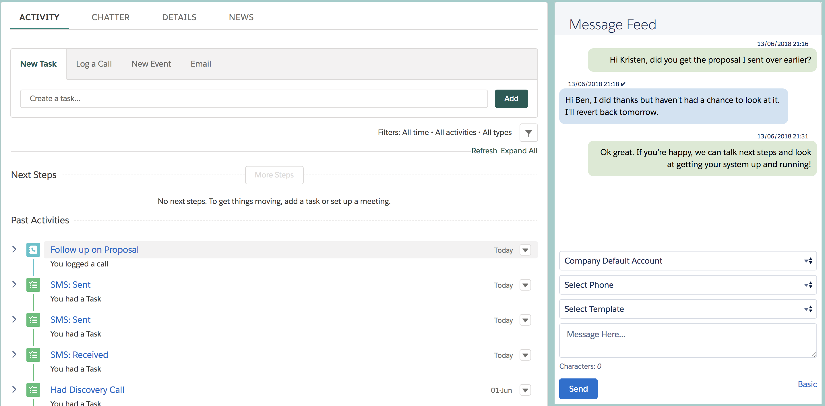 Send and Receive SMS with Salesforce - Salesforce Ben