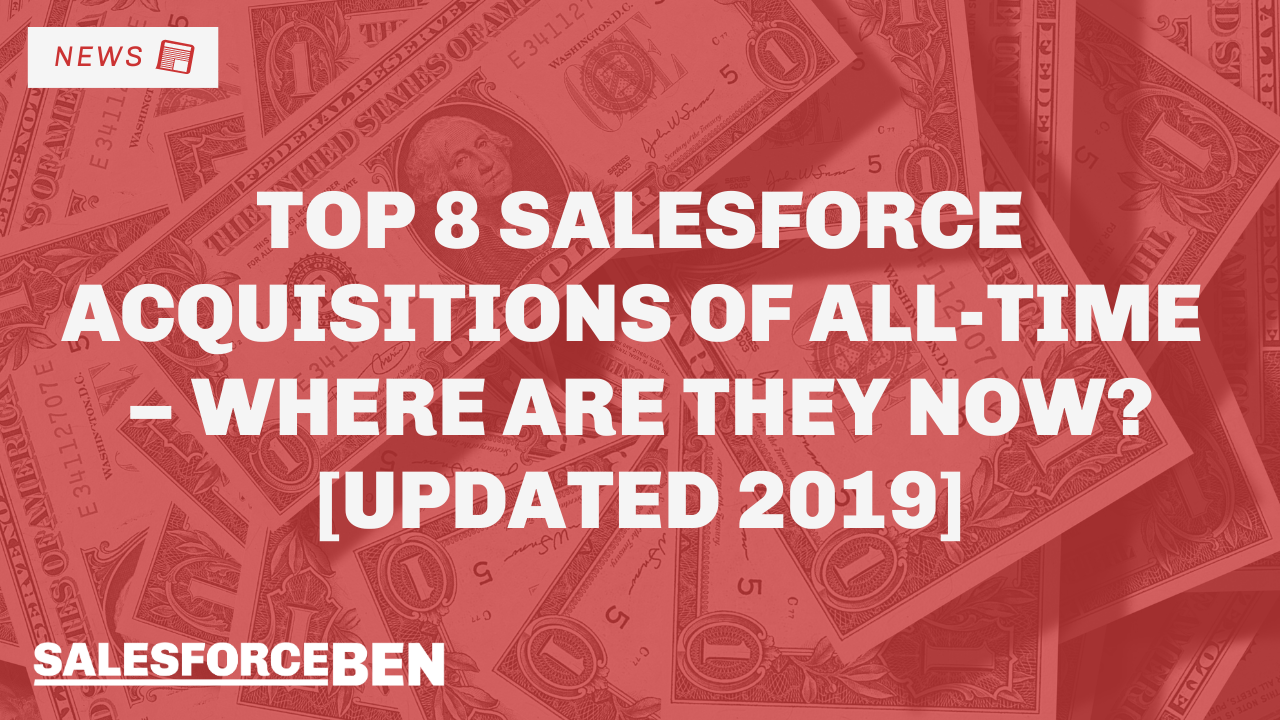 Top 8 Salesforce Acquisitions of All-Time – Where Are They Now? [Updated 2019]