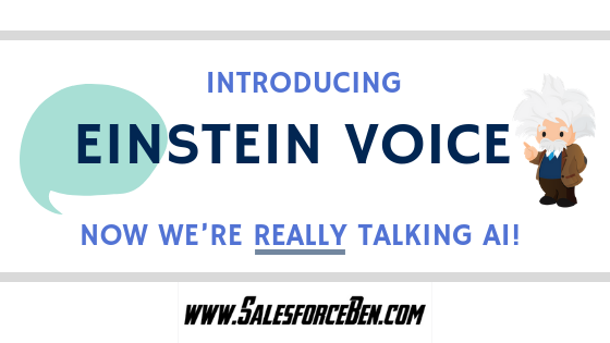 Introducing Einstein Voice – now we're really talking AI!