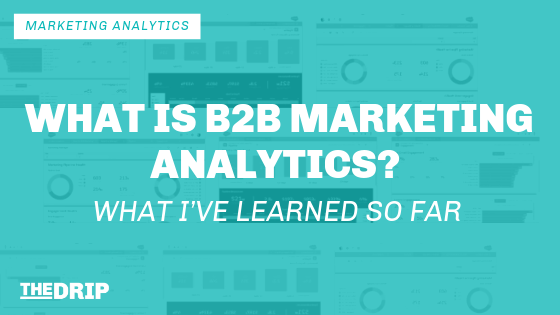 What is B2B Marketing Analytics? What I've Learned So Far!