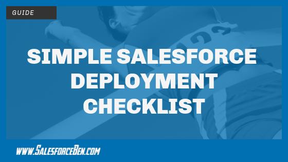 Simple Salesforce Deployment Checklist
