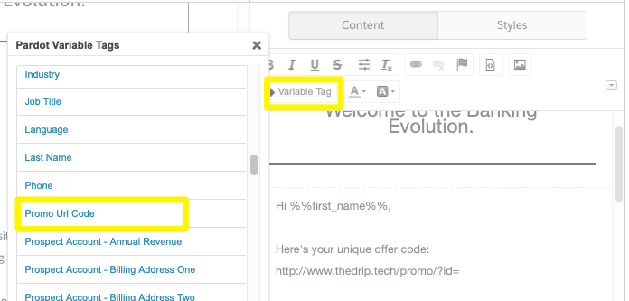 TIL: Tracking Dynamic URLs in Pardot Emails - THE DRIP