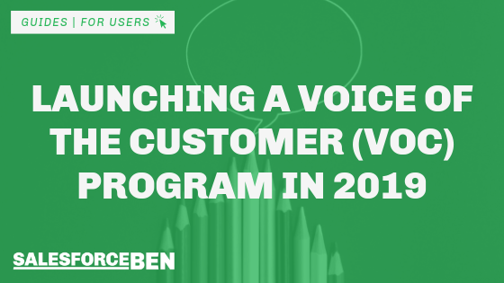 Launching a Voice of the Customer (VOC) Program in 2019