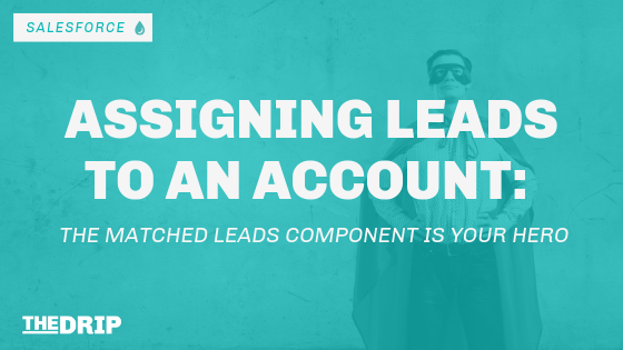 Assigning Leads to an Account: The Matched Leads Component is your Hero