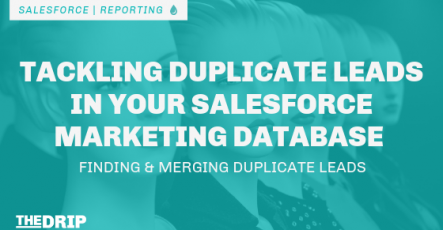 Tackling Duplicates in Your Salesforce Marketing Database: Finding & Merging Duplicate Leads