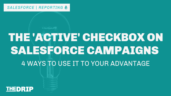 The 'Active' Checkbox on Salesforce Campaigns – 4 Ways to Use It to Your Advantage
