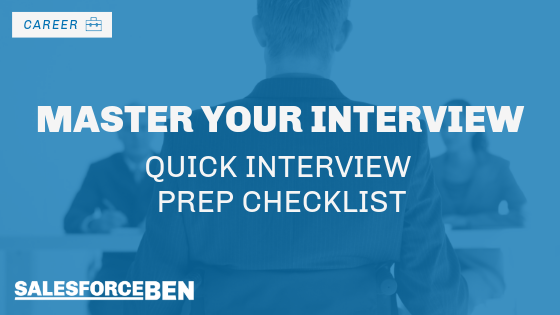 Master Your Salesforce Interview: Quick Interview Prep Checklist