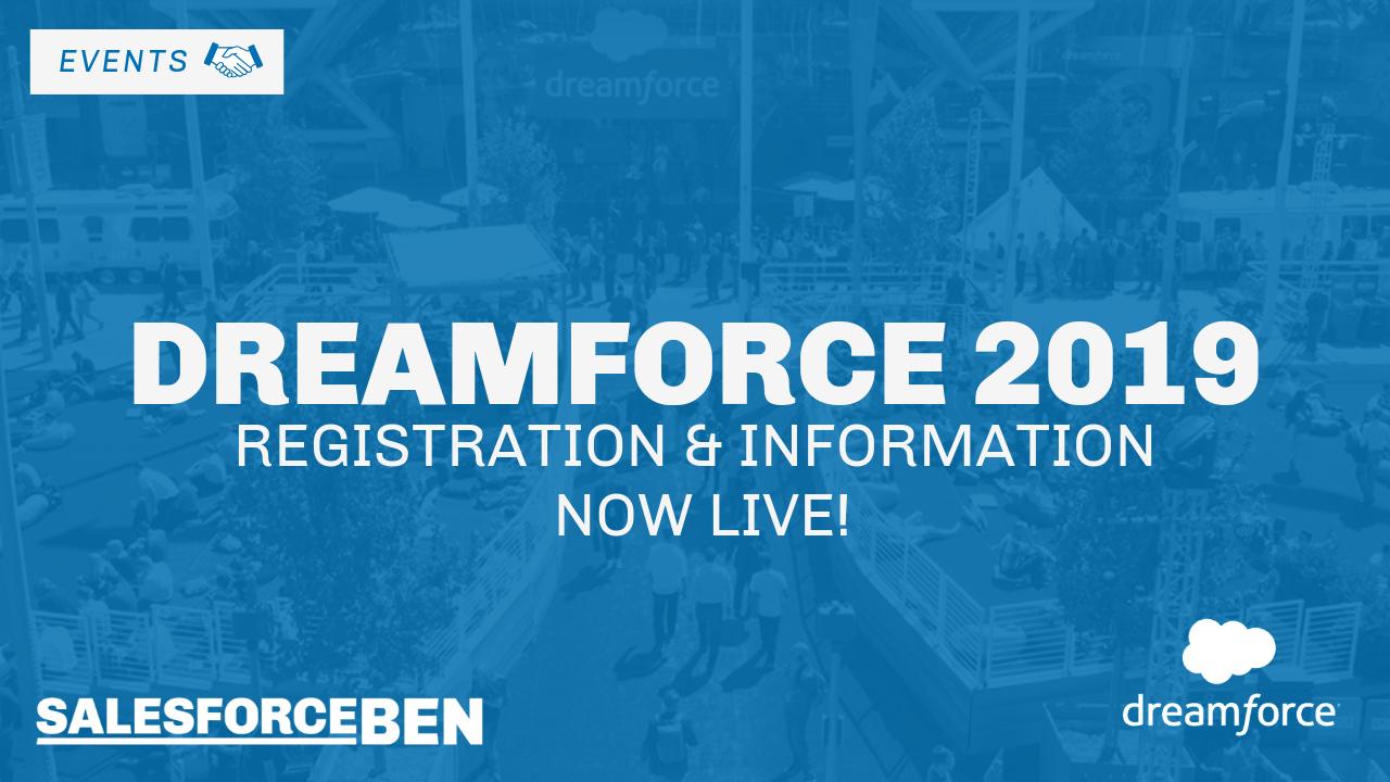 Dreamforce Registration & Information Is Now Live!