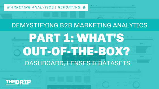 B2B Marketing Analytics: What's Out-of-the-box? Dashboards, Lenses & Datasets – Part 1
