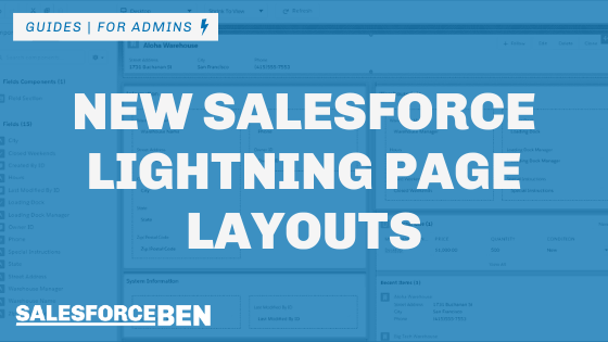 New Salesforce Lightning Page Layouts