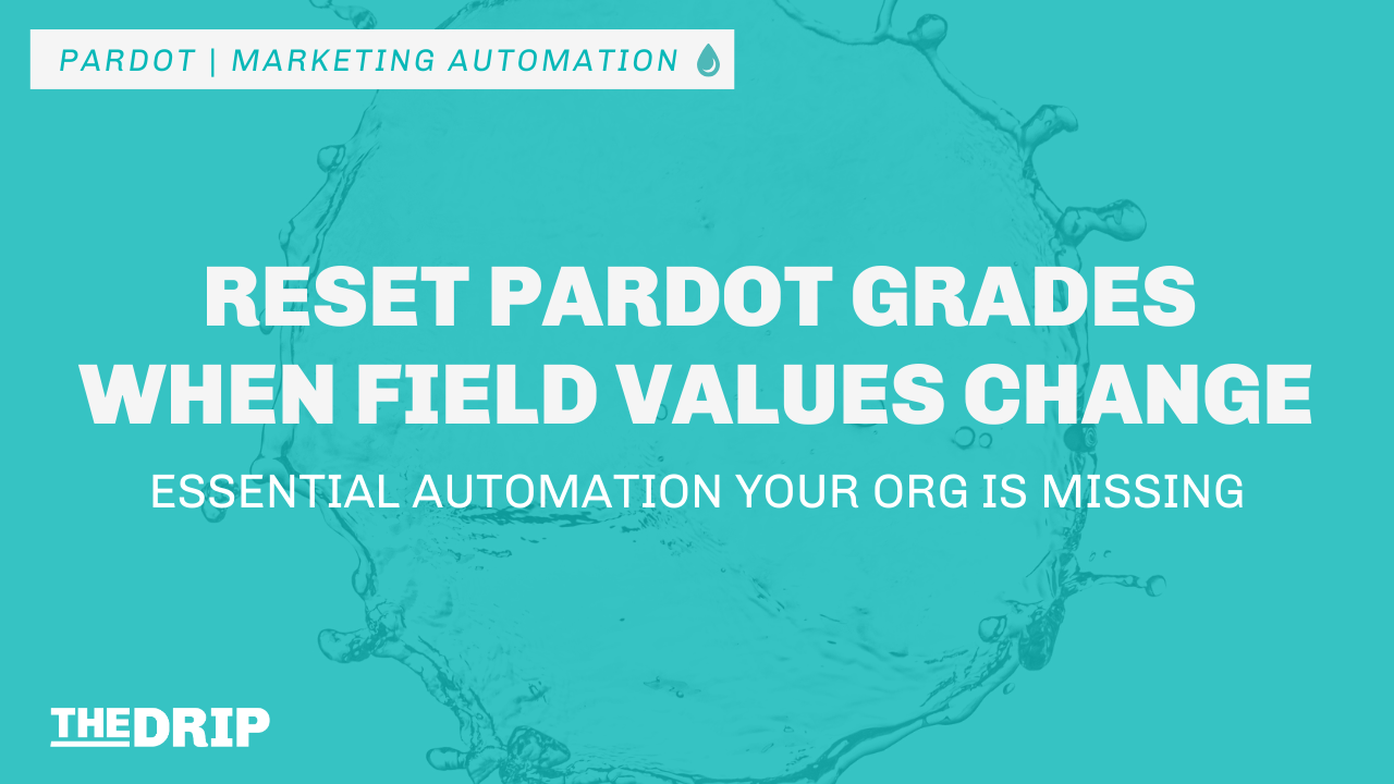 Reset Pardot Grades When Field Values Change – Essential Automation Your Org Is Missing