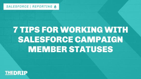 7 Tips for Working With Salesforce Campaign Member Statuses