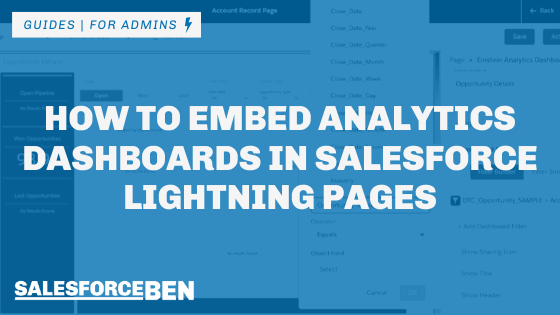 How to Embed Analytics Dashboards in Salesforce Lightning Pages