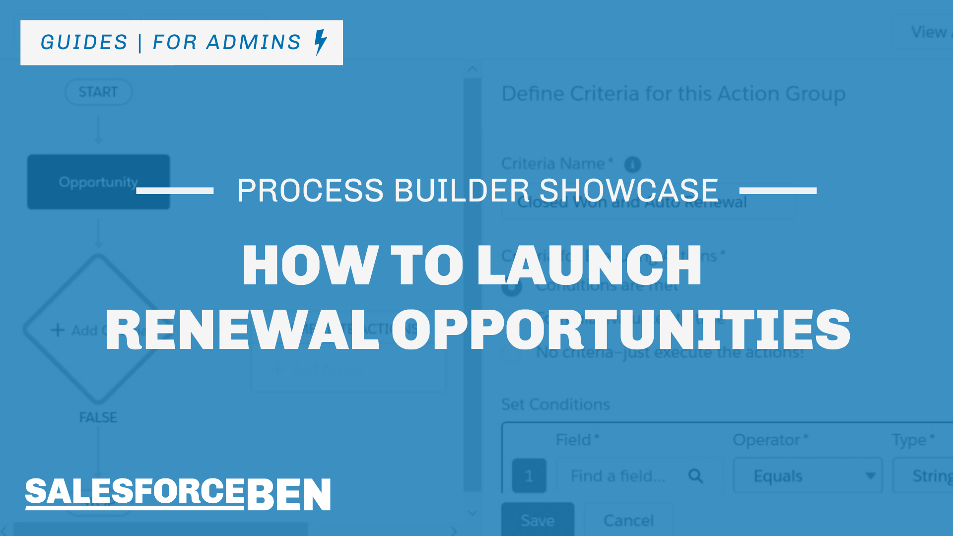 Process Builder Showcase: Launch Renewal Opportunities in Salesforce