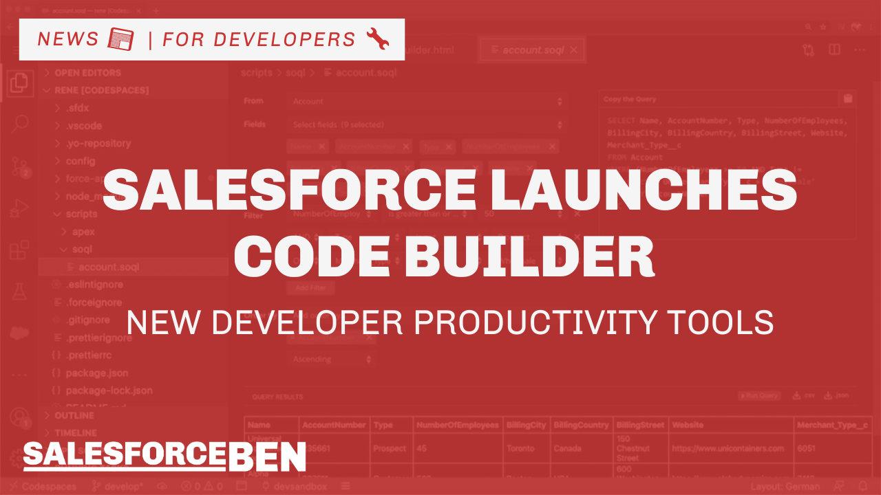 Salesforce Launches Code Builder – New Developer Productivity Tools