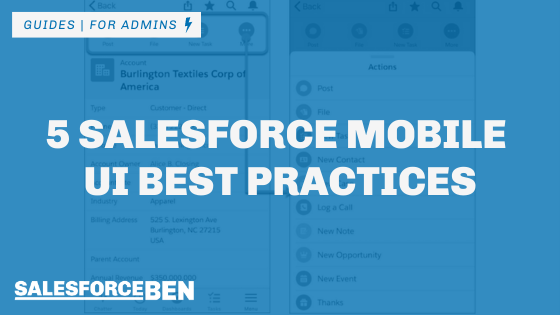5 Salesforce Mobile UI Best Practices
