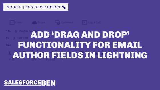Add 'Drag and Drop' Functionality for Email Author Fields in Lightning