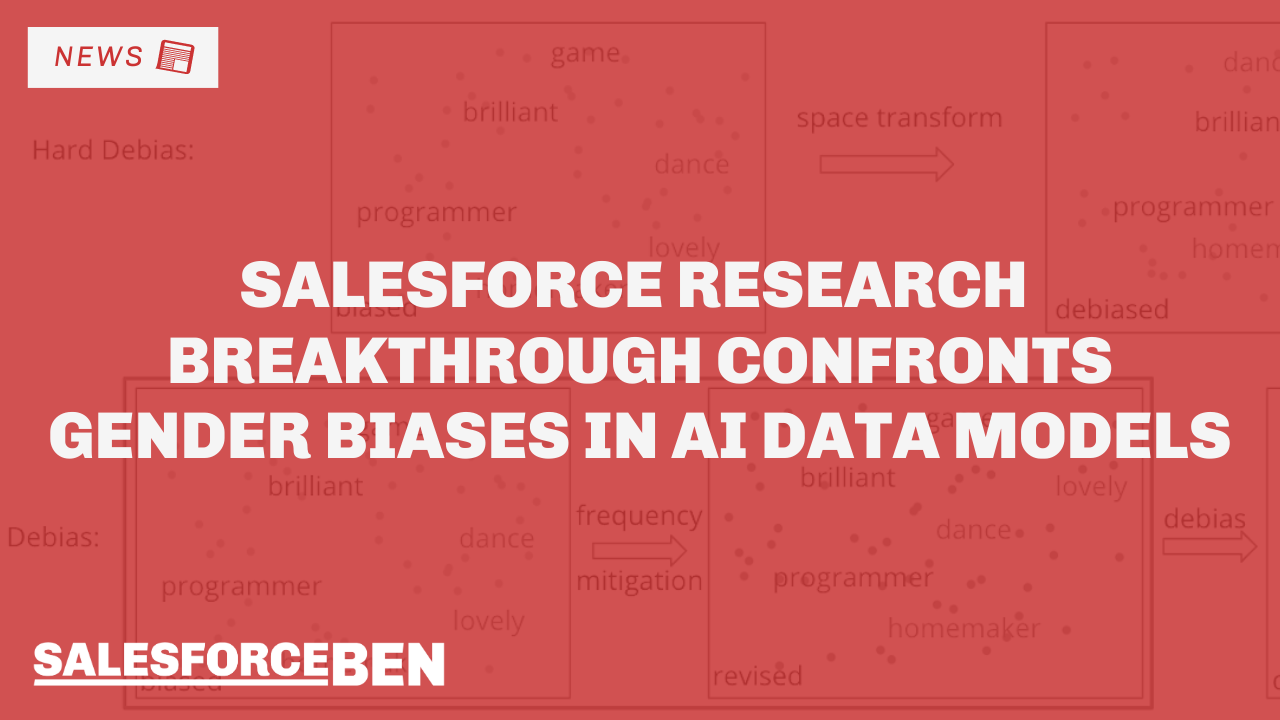 Salesforce Research Breakthrough Confronts Gender Biases in AI Data Models