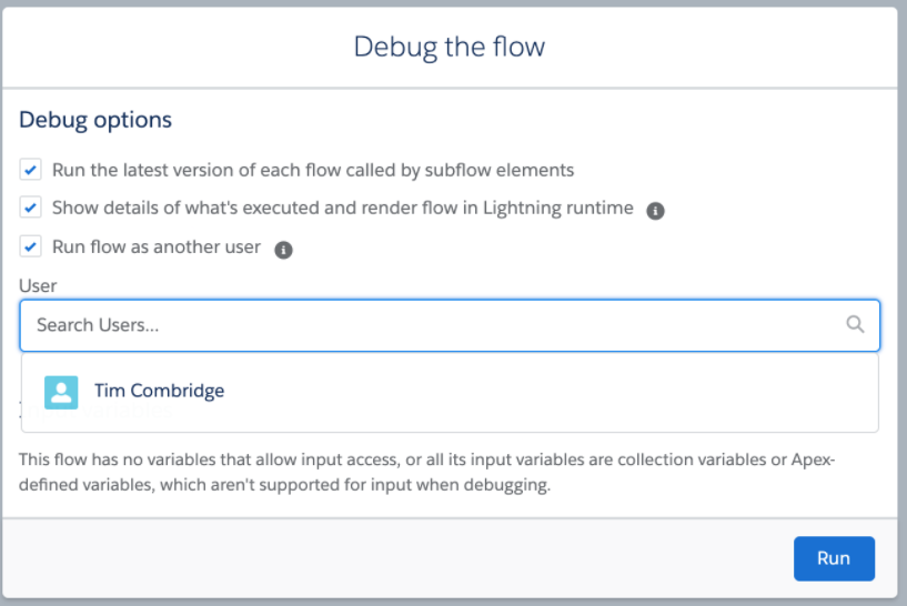 Debug Flow as Specific User in Salesforce Winter '21 Release