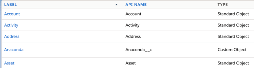 Object Manager List View in Salesforce Winter '21 Release
