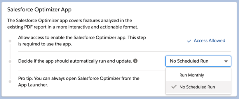Salesforce Optimizer Can be Scheduled in Salesforce Winter '21 Release