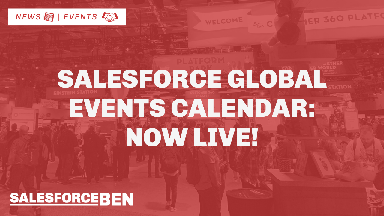 Global Salesforce Events Calendar is Now Live!