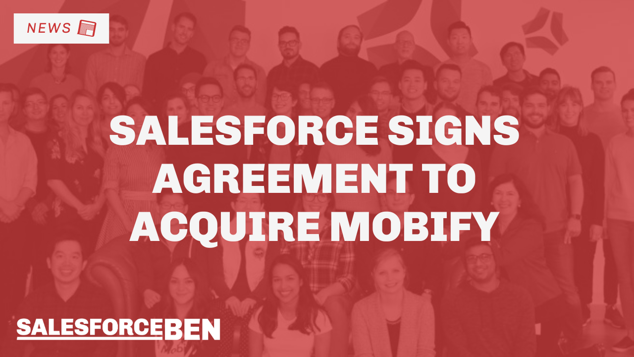 Salesforce Signs Agreement to Acquire Mobify