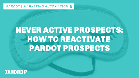 Never Active Prospects: How to Reactivate Pardot Prospects