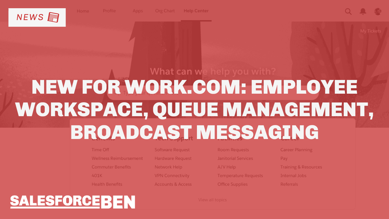 New Work.com Solutions: Employee Workspace, Queue Management, Broadcast Messaging, and more!