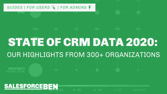 The State of CRM Data in 2020: Our Highlights from 300+ Organizations