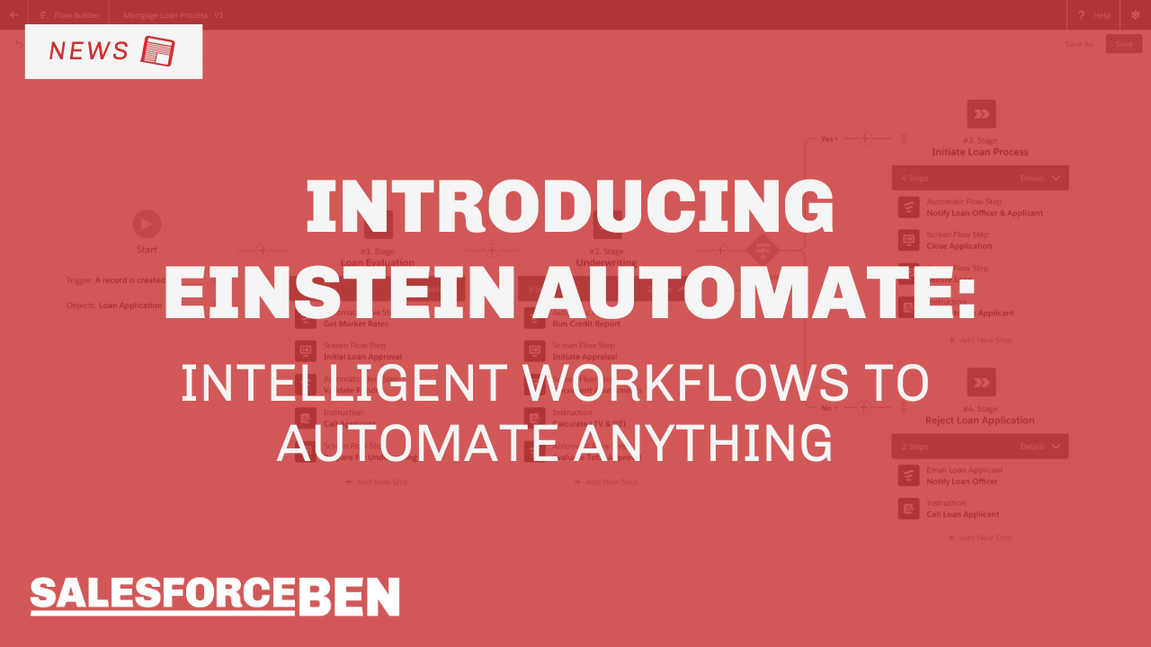 Einstein Automate: Intelligent Workflows to Automate Anything