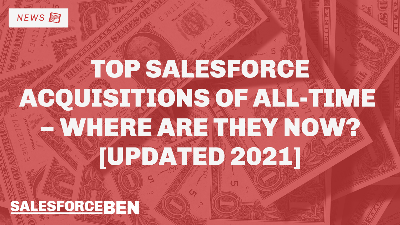 Top Salesforce Acquisitions of All-Time – Where Are They Now? [Updated 2021]