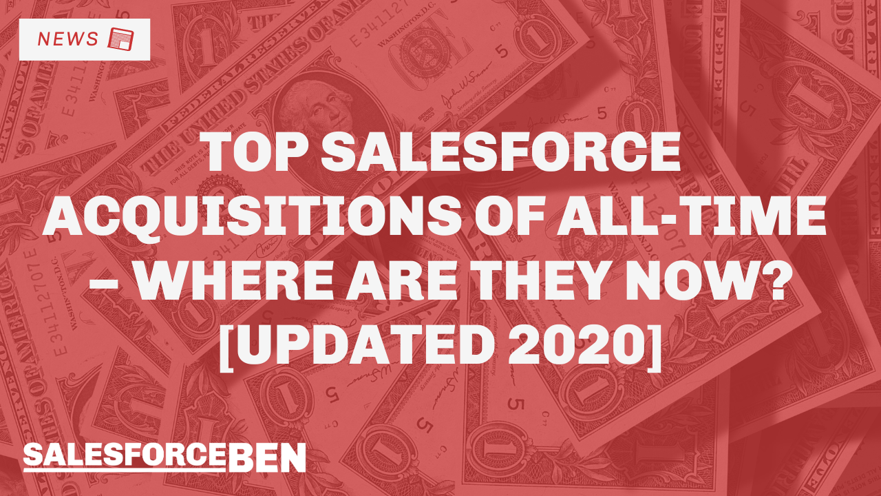 Top Salesforce Acquisitions of All-Time – Where Are They Now? [Updated 2020]