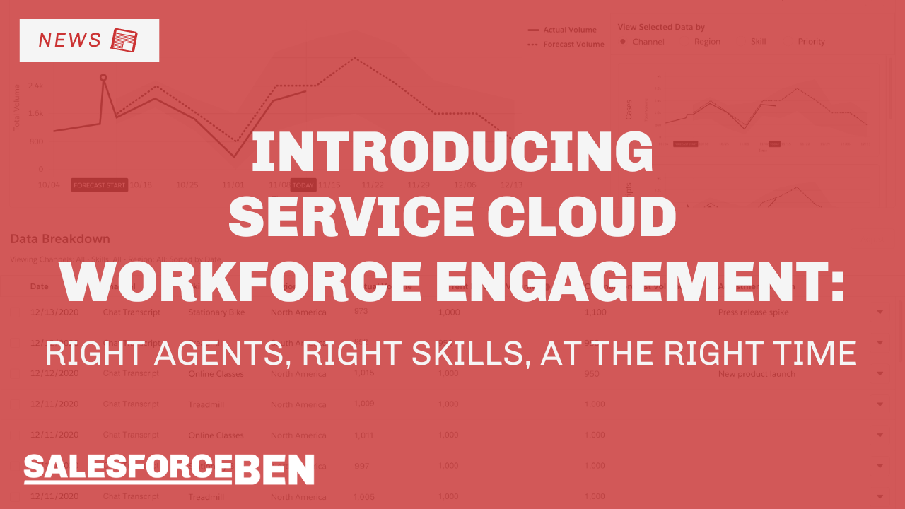Service Cloud Workforce Engagement – Right Agents, Right Skills, at the Right Time