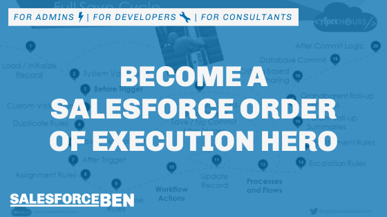 Become a Salesforce Order of Execution Hero