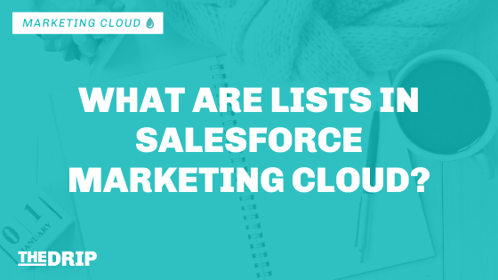 What are Lists in Salesforce Marketing Cloud?