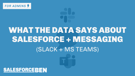 What The Data Says About Salesforce  and Messaging (Slack + MS Teams)