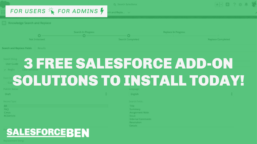 3 Free Salesforce Add-on Solutions to Install Today!