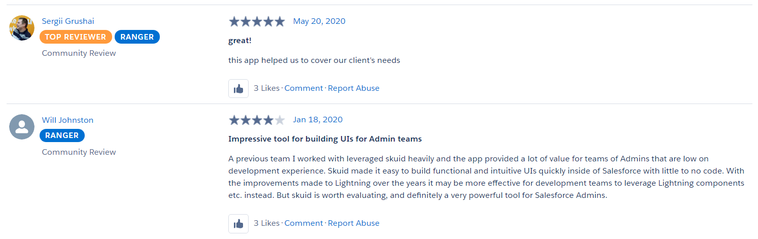 AppExchange Trusted Reviewer Profiles