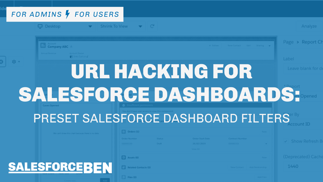 URL Hacking for Salesforce Dashboards (Preset Salesforce Dashboard Filters)