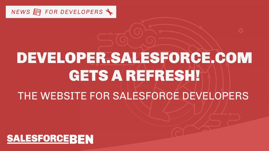 developer.salesforce.com Gets a Refresh, the Website for Salesforce Developers