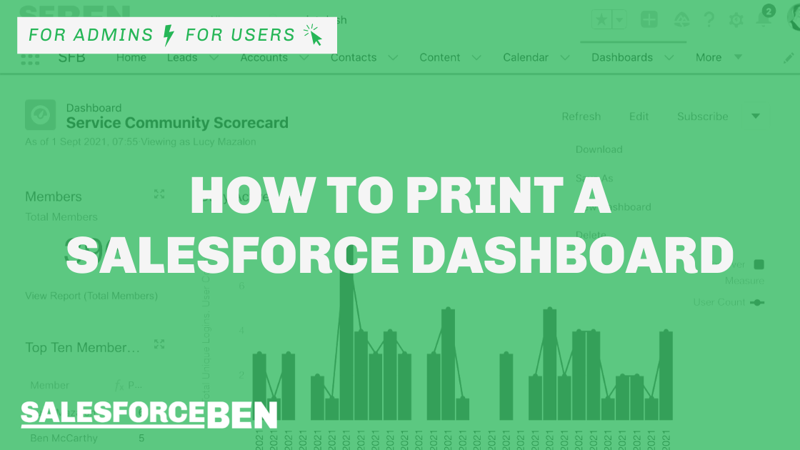 How to Print a Salesforce Dashboard