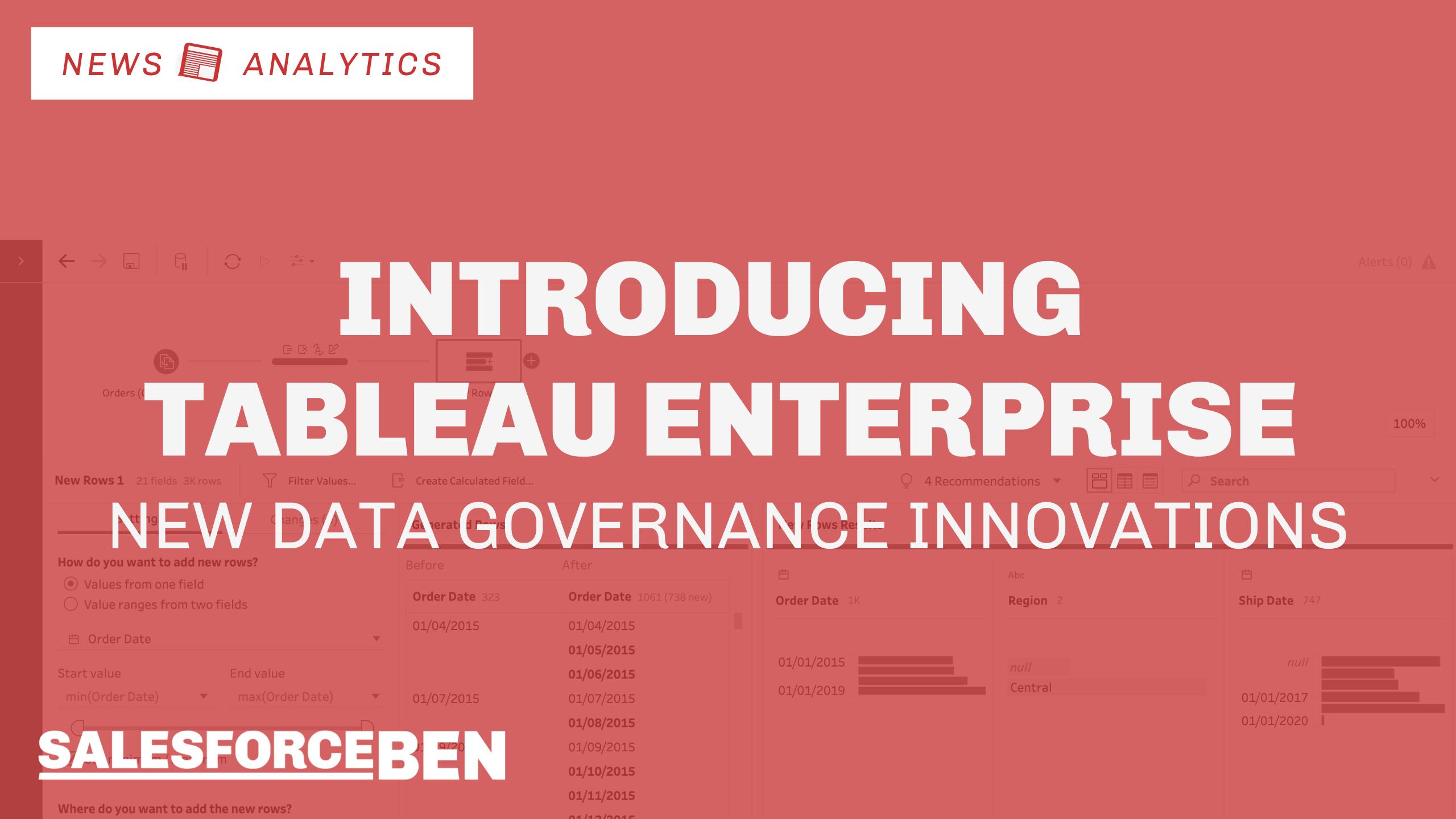 Introducing Tableau Enterprise – New Data Governance Innovations